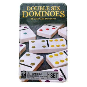NEW Double Six Dominoes 28 Color Dot Dominos Set